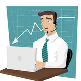 Homme 2 d'affaires illustration stock