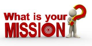 homme 3d - quelle est votre mission ? illustration libre de droits