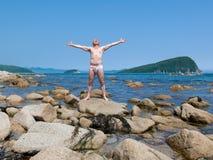homme 9 se décolorant au soleil photographie stock libre de droits