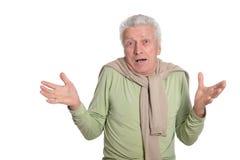 Homme aîné étonné Photo libre de droits