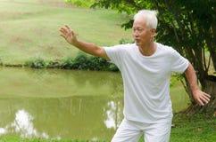 Homme aîné asiatique Image libre de droits