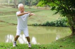 Homme aîné asiatique Images libres de droits