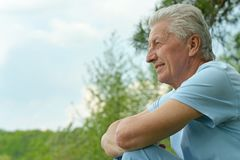 Homme aîné attirant Images stock