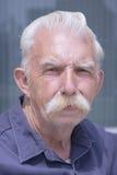 Homme aîné avec la moustache Image libre de droits