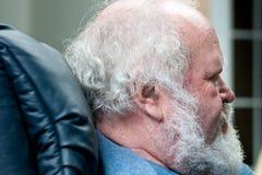 Homme aîné avec le cheveu blanc Photos libres de droits