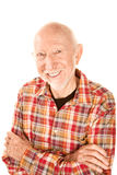 Homme aîné bel avec le sourire infectieux Photo stock