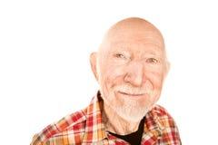 Homme aîné bel avec smaile infectieux Images libres de droits