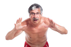 Homme aîné choqué Images stock