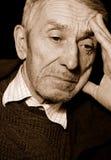 Homme aîné déprimé Photo libre de droits