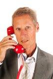 Homme aîné d'affaires au téléphone Images stock