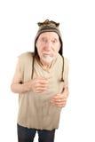 Homme aîné dans le capuchon de Knit Images stock