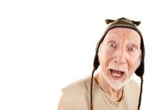 Homme aîné dans le capuchon de knit Photos stock