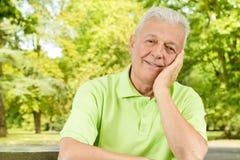 Homme aîné de sourire Photos libres de droits