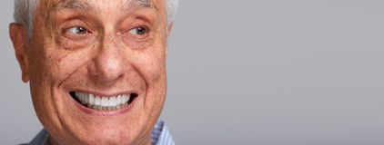Homme aîné de sourire Photos stock