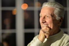 Homme aîné de sourire Photo libre de droits