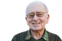 Homme aîné de sourire Image libre de droits