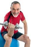 Homme aîné en gymnastique Image libre de droits
