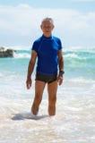 Homme aîné en vacances Images libres de droits
