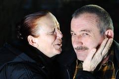 Homme aîné et femme Photographie stock