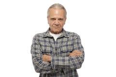 Homme aîné fâché Image stock