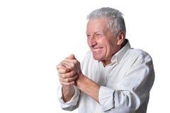 Homme aîné heureux Photo stock