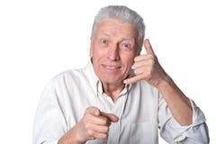 Homme aîné heureux Photographie stock libre de droits