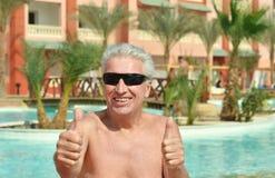 Homme aîné heureux Photos libres de droits