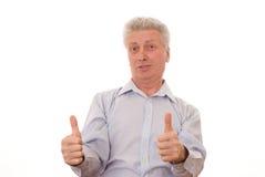 Homme aîné heureux d'affaires Image stock