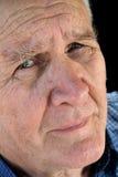 Homme aîné inquiété Photo stock