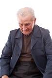 Homme aîné occupé Photos stock