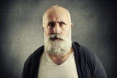 Homme aîné pensant Image libre de droits