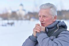 Homme aîné pensif Photographie stock libre de droits