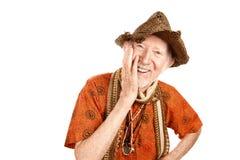 Homme aîné riant Image libre de droits