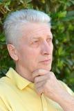 Homme aîné sérieux Photographie stock libre de droits