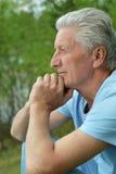 Homme aîné sérieux Photos stock