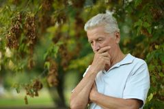 Homme aîné sérieux Photo libre de droits