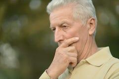 Homme aîné sérieux Photos libres de droits