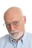 Homme aîné - sérieux Image libre de droits