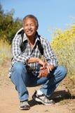 Homme aîné sur la hausse de pays Photo stock