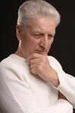 Homme aîné triste Photos libres de droits
