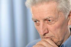 Homme aîné triste Image libre de droits