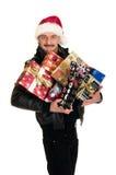 Homme, achats de Noël images stock