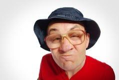 Homme adroit, visage drôle. photographie stock libre de droits