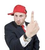 Homme affichant le doigt Image stock