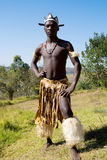 Homme africain de zoulou images stock