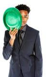 Homme afro-américain attirant d'affaires posant dans le studio Image libre de droits