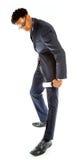 Homme afro-américain attirant d'affaires posant dans le studio Image stock