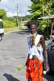 Homme afro-américain barbu mince photographie stock