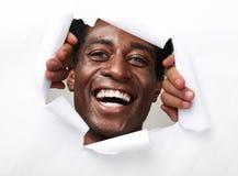 Homme afro-américain joyeux heureux photographie stock libre de droits