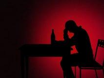 Homme alcoolique illustration libre de droits